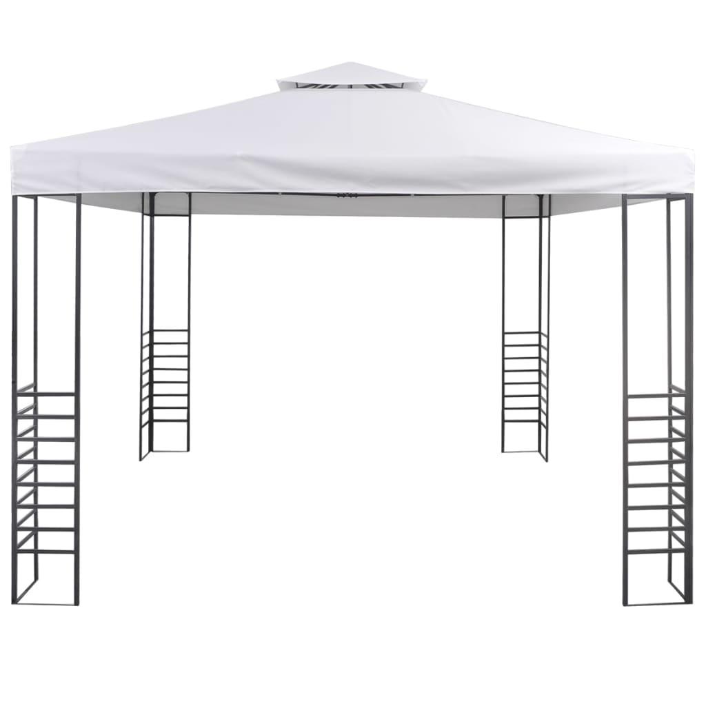 vidaXL Tuinpaviljoen 3x3 m wit