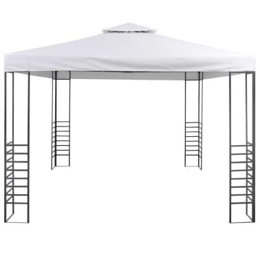 vidaXL Tuinpaviljoen 3x3 m wit[2/7]