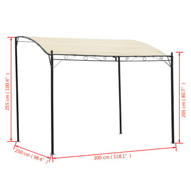 vidaXL Gazebo Fabric Cream White[5/5]
