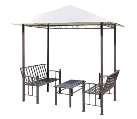 vidaXL aiapaviljon koos laua ja pinkidega 2,5 x 1,5 x 2,4 m