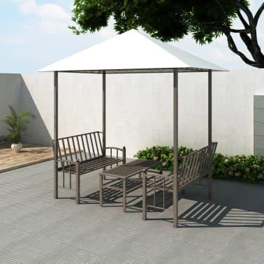 vidaXL Vrtni paviljon z mizo in klopema 2,5x1,5x2,4 m[1/6]