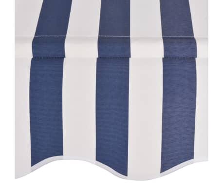 vidaXL Auvent rétractable manuel 150 cm Rayures bleues et blanches[4/6]