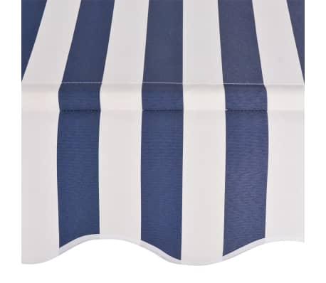 vidaXL Einziehbare Markise Handbetrieben 250 cm Blau/Weiß Gestreift[4/6]