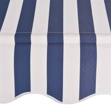 vidaXL Auvent rétractable manuel 400 cm Rayures bleues et blanches[4/6]