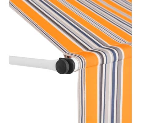 vidaXL Auvent rétractable manuel 200 cm Rayures jaunes et bleues[3/6]