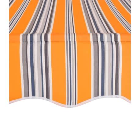 vidaXL Auvent rétractable manuel 200 cm Rayures jaunes et bleues[4/6]