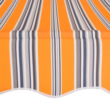 """vidaXL Manual Retractable Awning 157.5"""" Yellow and Blue Stripes[4/6]"""