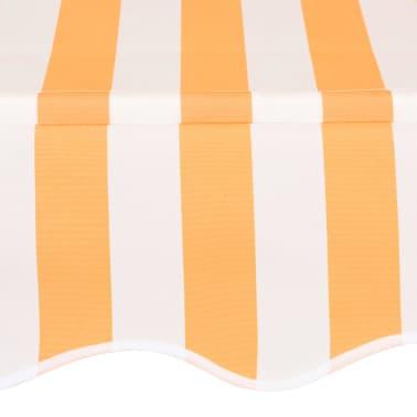 vidaXL Markiza zwijana ręcznie, 250 cm, żółto-białe pasy[4/6]