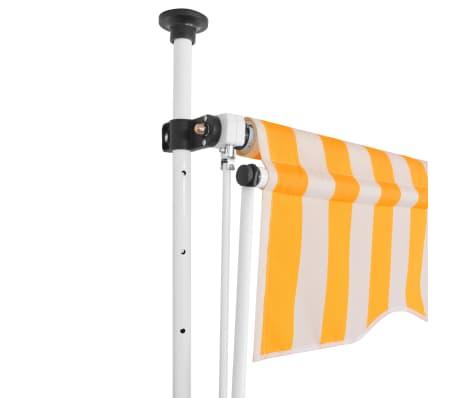 vidaXL Auvent rétractable manuel 300 cm Rayures jaunes et blanches[2/6]