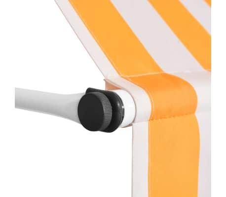 vidaXL Auvent rétractable manuel 400 cm Rayures jaunes et blanches[3/6]