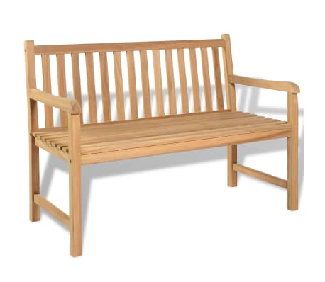 "vidaXL Outdoor Bench Teak 47.2""x24.6""x35.4""[1/6]"