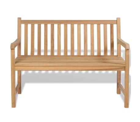 "vidaXL Outdoor Bench Teak 47.2""x24.6""x35.4""[2/6]"