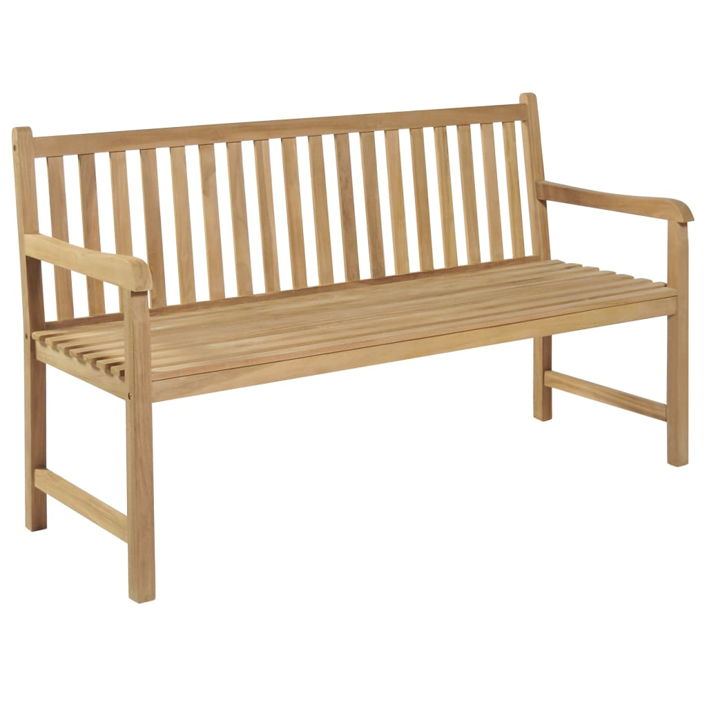 vidaXL Zahradní lavice, teak, 150x62,5x90 cm