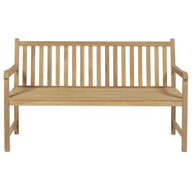 vidaXL Gartenbank Teak 150×62,5×90 cm[2/6]