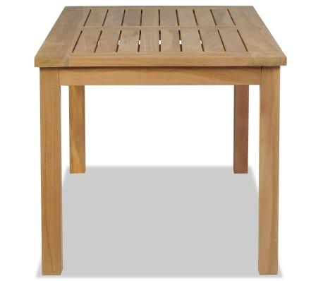 vidaXL Kavos staliukas, tikmedis, 90x50x45cm[3/6]