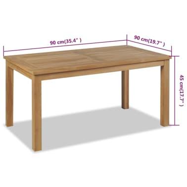 vidaXL Kavos staliukas, tikmedis, 90x50x45cm[6/6]