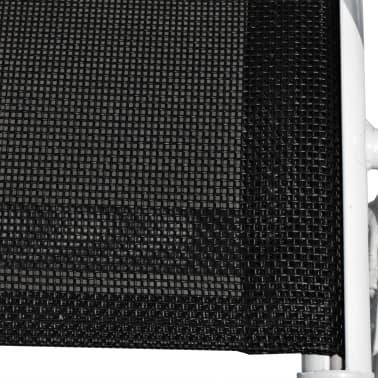 vidaXL Chaises empilables de jardin 6 pcs Acier et textilène Noir[6/7]
