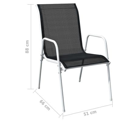 vidaXL Conjunto de muebles de comedor para jardín 5 piezas negro ...