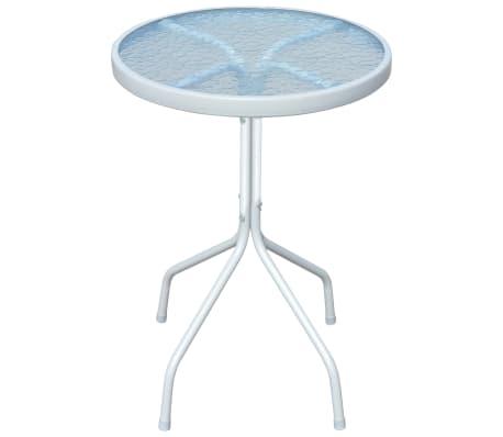 Détails sur idaXL Table d\'Extérieur Ronde Acier Gris Meuble de Jardin Table  de Jardin