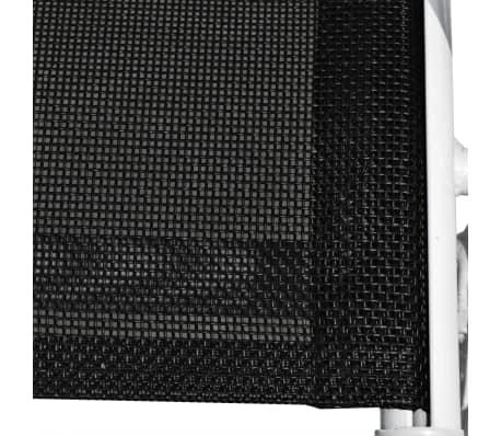 vidaXL 3-daļīgs bistro mēbeļu komplekts, tērauds, melns[9/11]