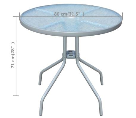 vidaxl gartentisch 80 x 71 cm stahl rund grau g nstig kaufen. Black Bedroom Furniture Sets. Home Design Ideas