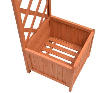 acheter vidaxl arche pour rosiers avec jardini res treillis 180x40x205 cm pas cher. Black Bedroom Furniture Sets. Home Design Ideas