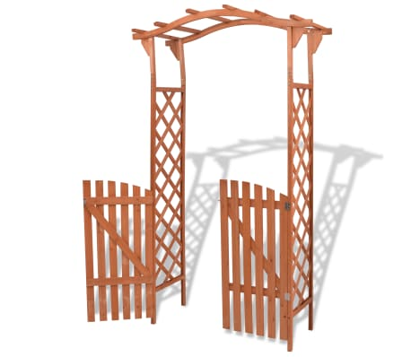 "vidaXL Garden Arch with Gate Solid Wood 47.2""x23.6""x80.7""[2/6]"
