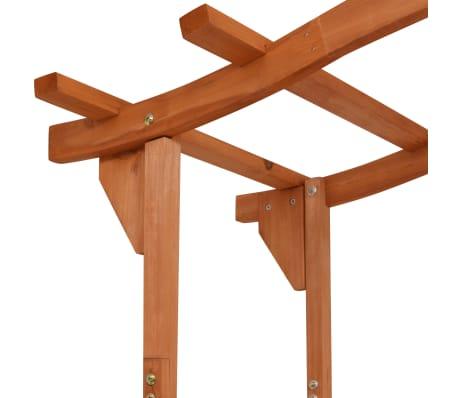 "vidaXL Garden Arch with Gate Solid Wood 47.2""x23.6""x80.7""[4/6]"