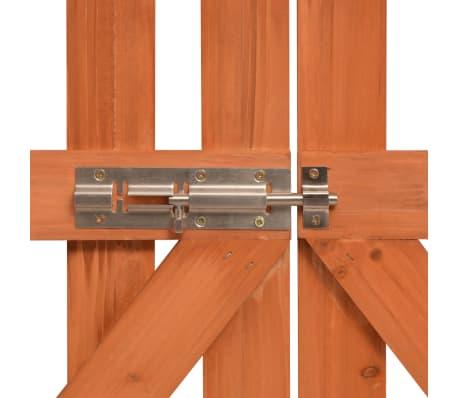 vidaXL Garden Arch with Gate Solid Wood 120x60x205 cm[5/6]