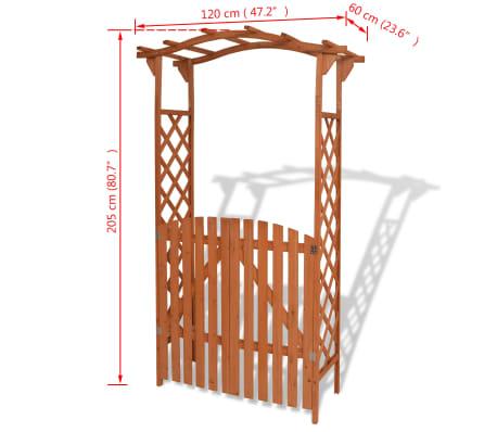 "vidaXL Garden Arch with Gate Solid Wood 47.2""x23.6""x80.7""[6/6]"