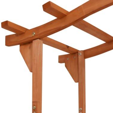 vidaXL Garden Arch with Gate Solid Wood 120x60x205 cm[4/6]