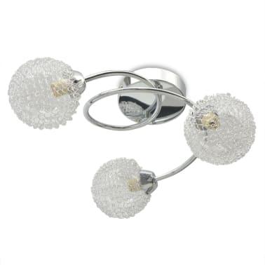 vidaXL Lubų šviestuvas su 3 G9 lemputėmis, 120 W[4/8]