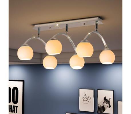 acheter vidaxl plafonnier avec 6 ampoules led g9 240 w pas cher. Black Bedroom Furniture Sets. Home Design Ideas