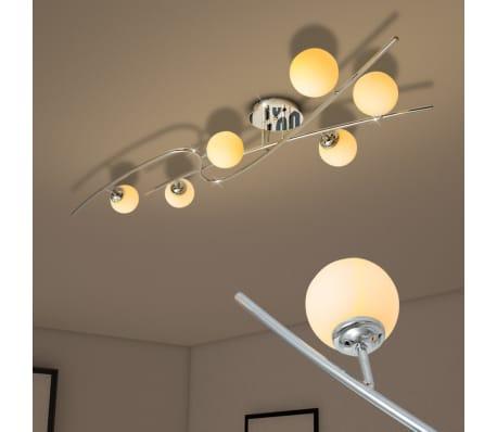 vidaXL Ceiling Lamp with 6 LED Bulbs G9 240 W[2/10]