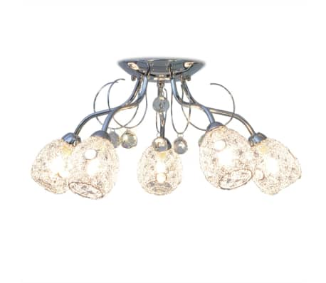 vidaXL Stropná lampa s 5 LED žiarovkami G9, 200 W[2/9]