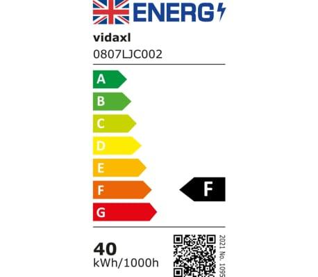 vidaXL Stropná lampa s 5 LED žiarovkami G9, 200 W[8/9]