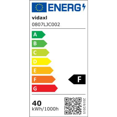 vidaXL Stropná lampa s 5 LED žiarovkami G9, 200 W[7/9]