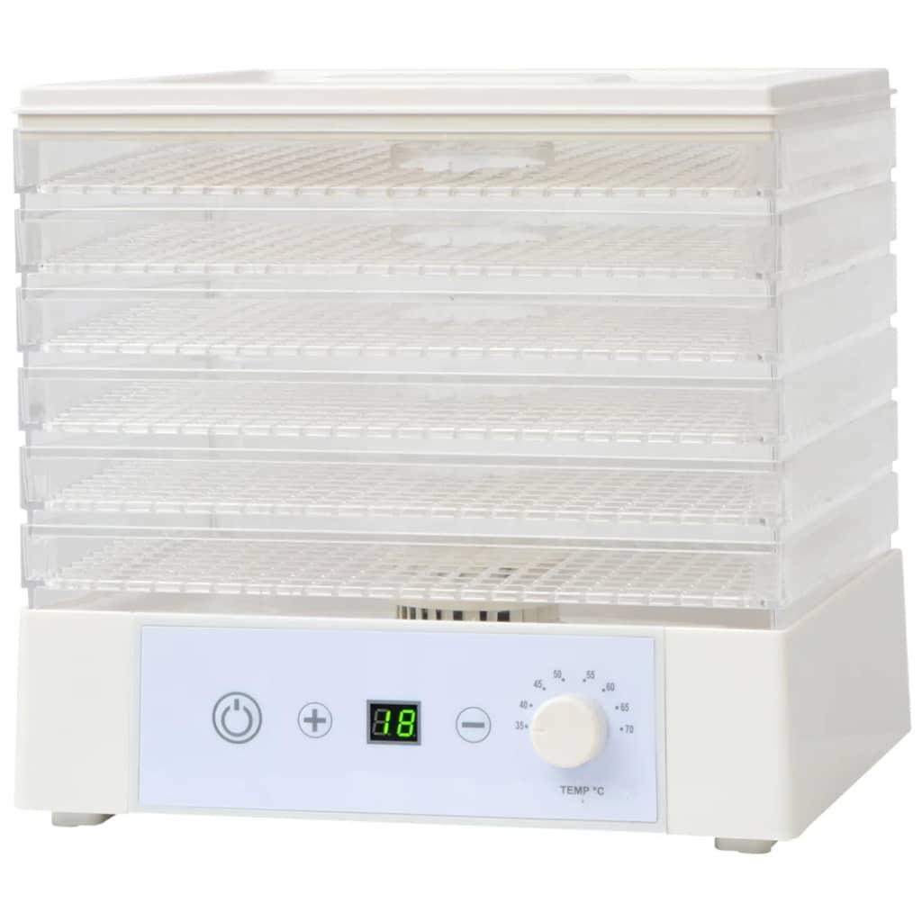 vidaXL Déshydrateur alimentaire avec 6 plateaux pour cuisine 250 W Blanc 2