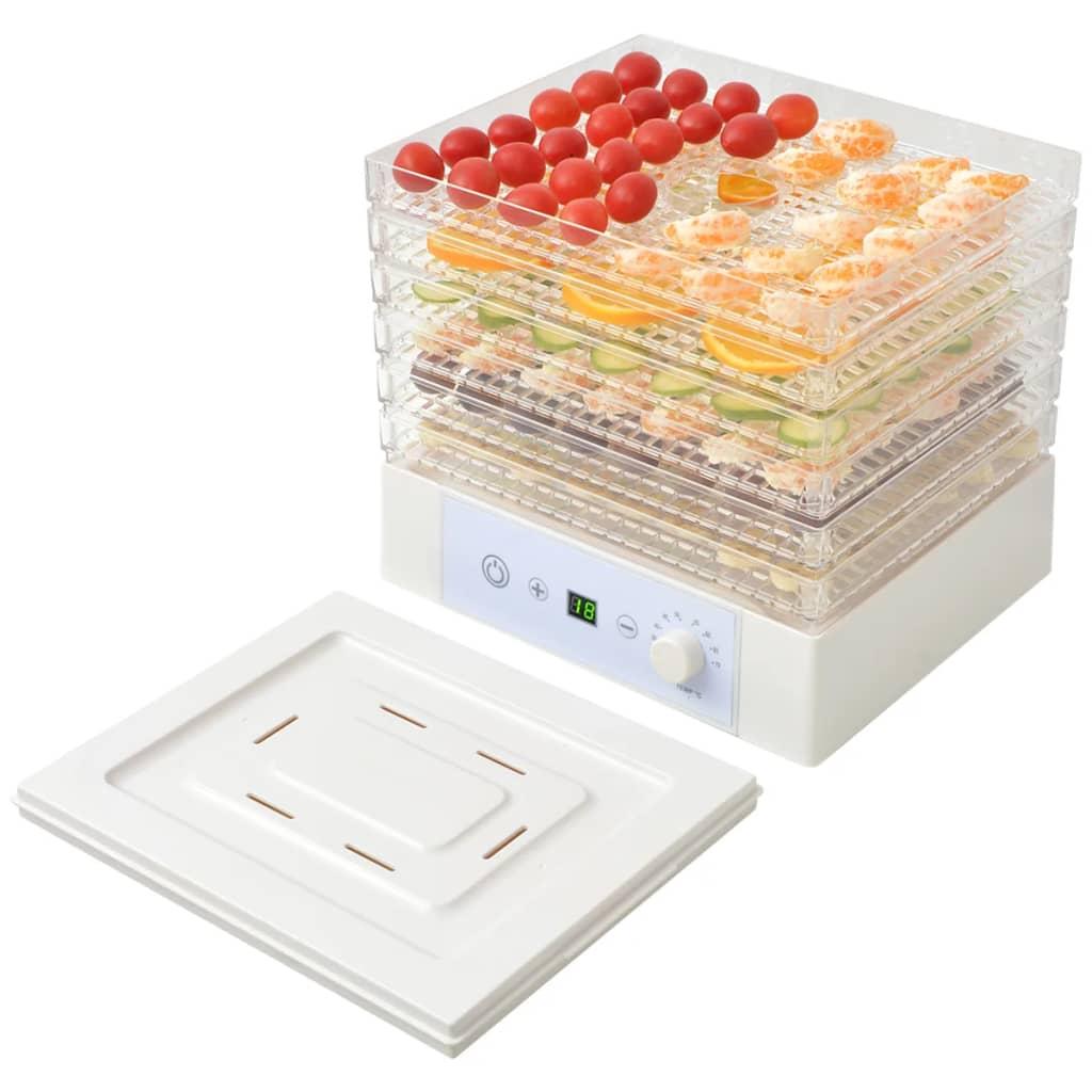 vidaXL Déshydrateur alimentaire avec 6 plateaux pour cuisine 250 W Blanc 3