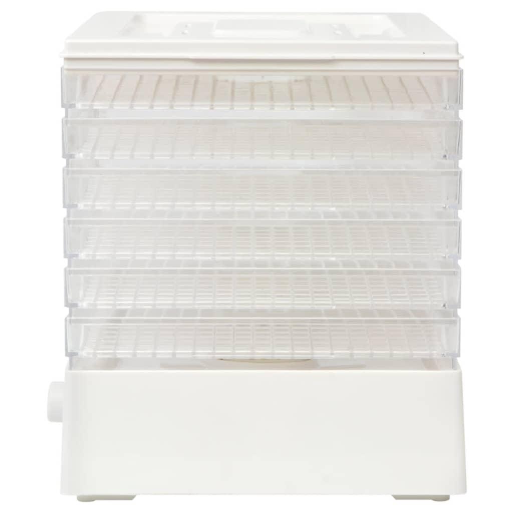 vidaXL Déshydrateur alimentaire avec 6 plateaux pour cuisine 250 W Blanc 4