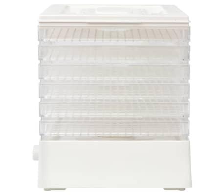 vidaXL Maisto džiovintuvas su 6 padėklais, 250 W, baltas[4/7]
