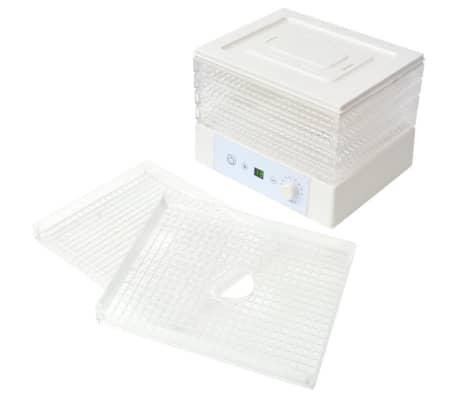 vidaXL Déshydrateur alimentaire avec 6 plateaux 250 W Blanc[5/7]