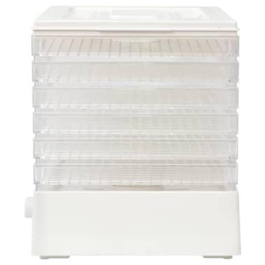 vidaXL Déshydrateur alimentaire avec 6 plateaux 250 W Blanc[4/7]