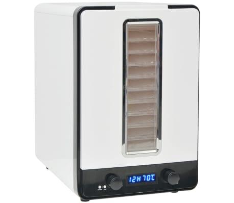 Dagaanbieding - vidaXL Voedseldroger met 10 lades 550 W wit dagelijkse koopjes