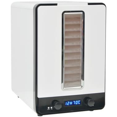 vidaXL Aszalógép 10 tálcával 550 W fehér[2/7]