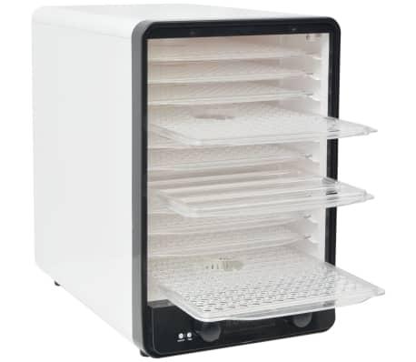 vidaXL Matdehydrator med 10 skuffer 550 W Hvit[3/7]