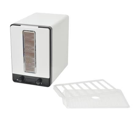 vidaXL Aszalógép 10 tálcával 550 W fehér[5/7]
