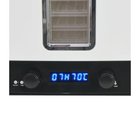 vidaXL Aszalógép 10 tálcával 550 W fehér[7/7]