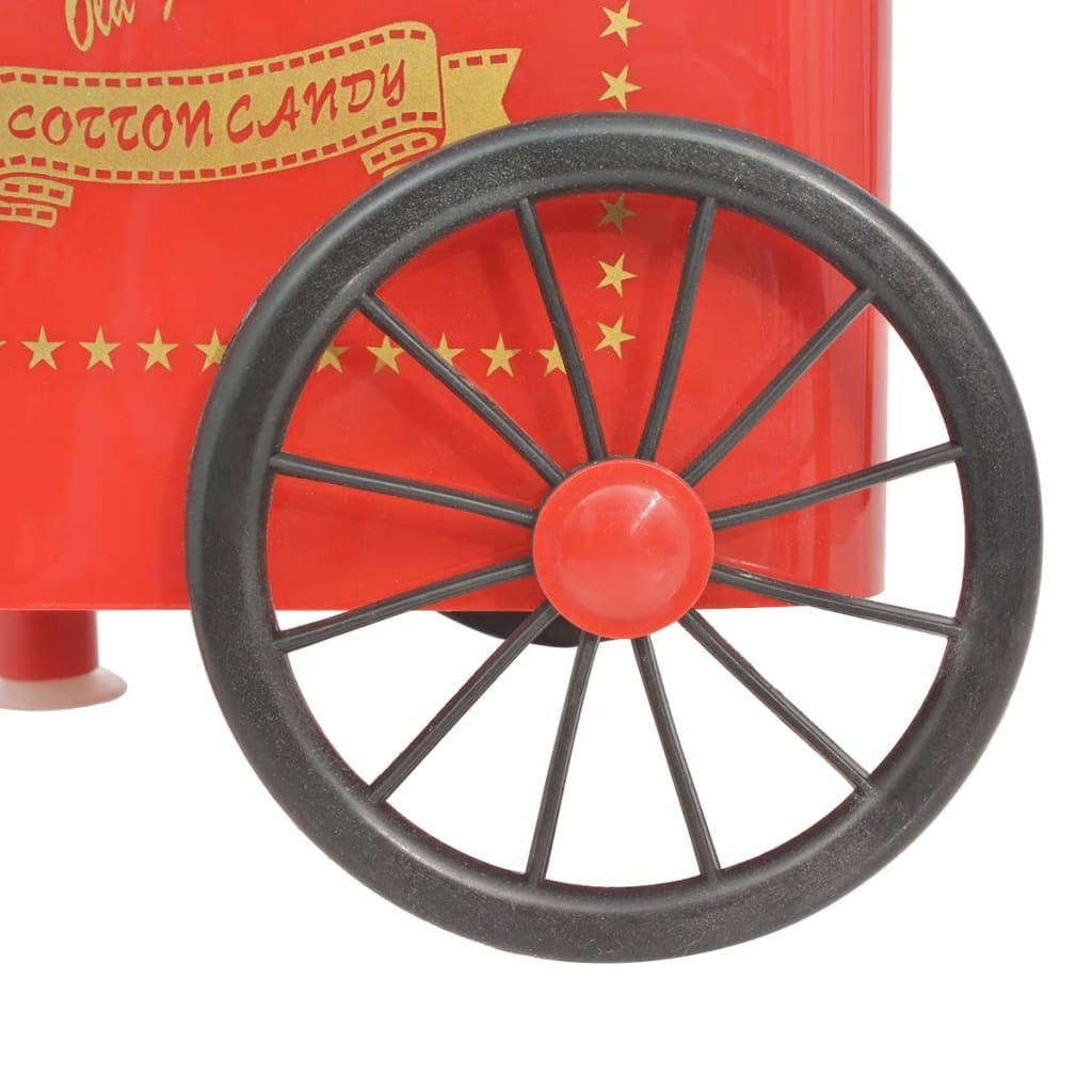 vidaXLi ratastega suhkruvatimasin 480 W punane