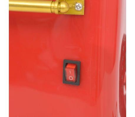 vidaXL Zuckerwattemaschine mit Rädern 480 W Rot[6/8]